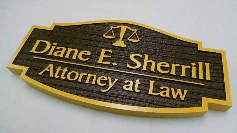 Sandblasted Exterior Signs | Sherrill Attorney at Law