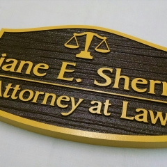 Sandblasted Exterior Signs | Sherrill Attorney at Law