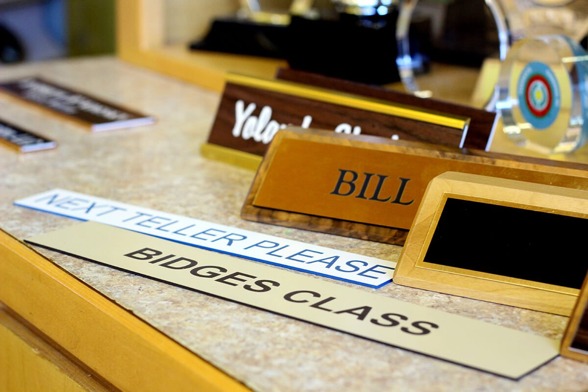 Purpose of Name Plates: Personalized Desk Name Plates