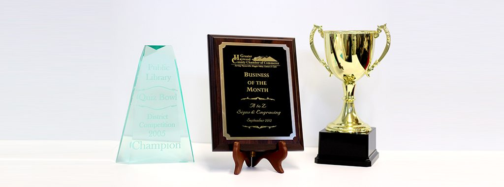 Custom Glass Awards, Plaques, Trophies