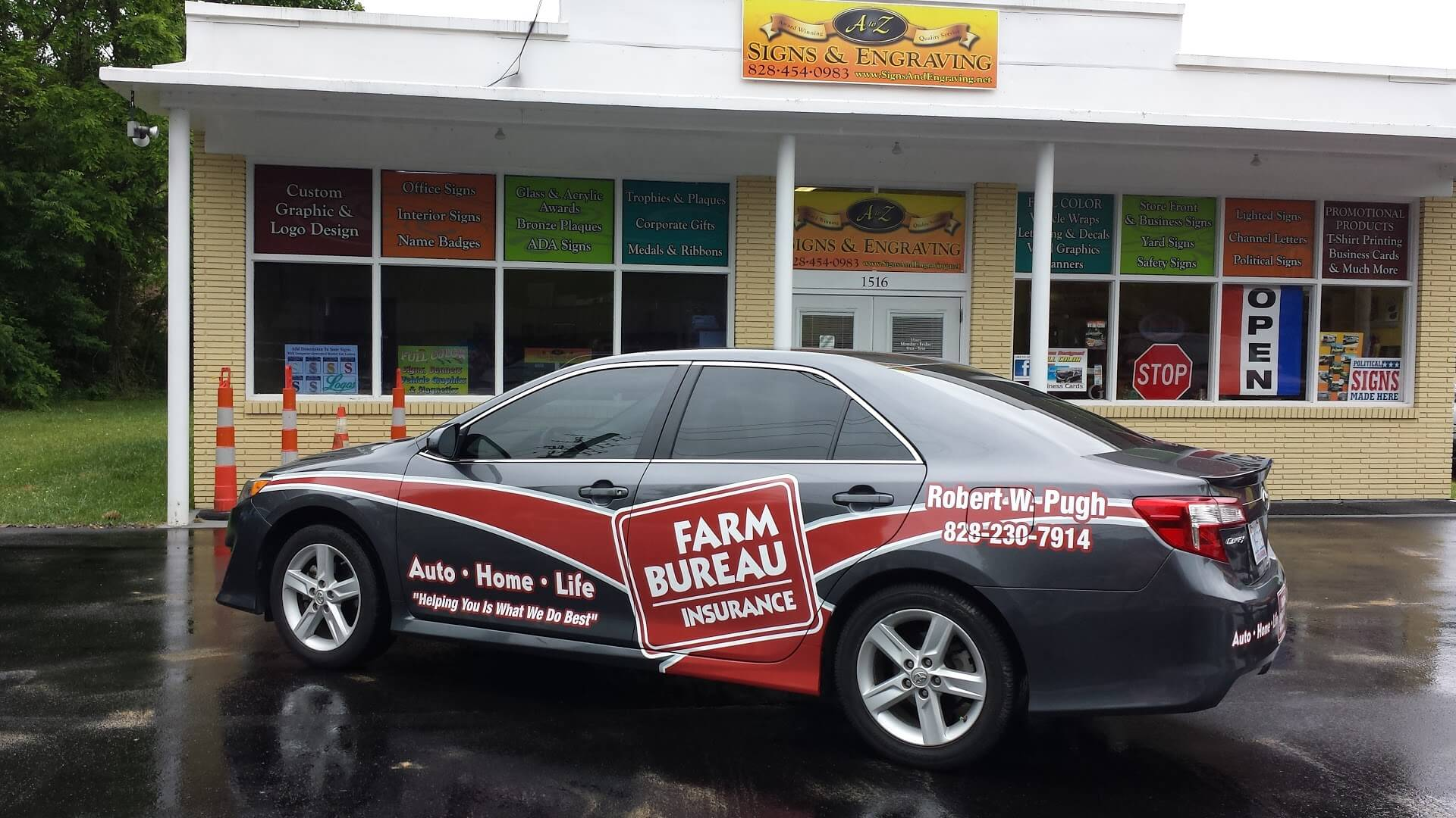 Vehicle Wraps Car Signs Graphic Lettering  Magnets - Custom car magnets for business   promote your brand