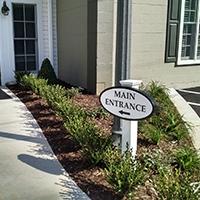 Sandblasted Main Entrance Sign