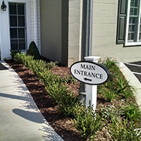 Sandblasted Main Entrance Sign