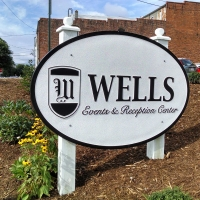 Wells Events & Reception Center   Sandblasted Main Entrance Sign