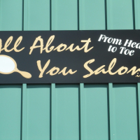 Storefront Signs | All About You Salon Waynesville NC