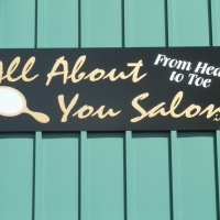 Storefront Signs   All About You Salon Waynesville NC